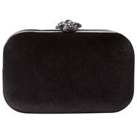 Phase Eight Clara Velvet Clutch Bag Black