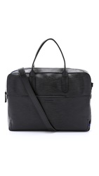 Ben Minkoff Embossed Leather Fulton Briefcase Black