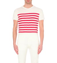 Tommy Hilfiger Lester Striped T Shirt Barbarry Heather