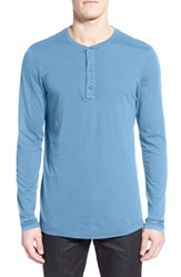 Men's Michael Stars Long Sleeve Henley Riverbed