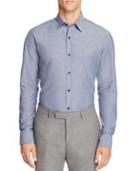 Hardy Amies Slim Fit Button Down Shirt Blue