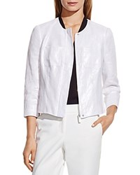 Vince Camuto Foiled Linen Jacket Ultra White