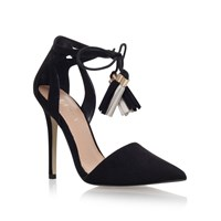 Lipsy Laura High Heel Lace Up Court Shoes Black