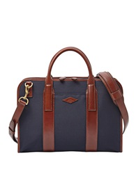 Fossil Top Zip Workbag Navy