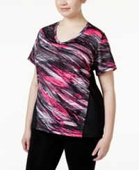 Ideology Plus Size Printed T Shirt Only At Macy's Molten Pink