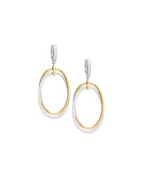 Diamond Oval Interloop Earrings Frederic Sage