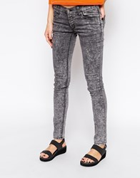 Cheap Monday Acid Wash Skinny Jeans Grey
