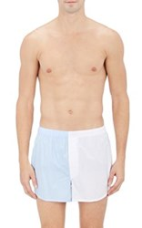 Sleepy Jones Men's Colorblocked Boxers White