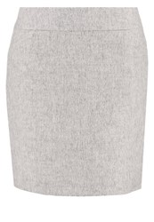 Comma Pencil Skirt Light Grey Melange
