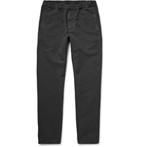 Nn.07 Justin Linen And Cotton Blend Trousers Gray