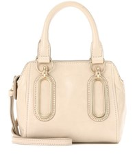 See By Chloe Paige Mini Leather Shoulder Bag Beige