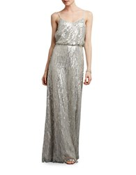 Donna Morgan Sequin Spaghetti Strap Gown Cloud