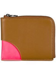 Kenzo 'Kurved' Colour Block Wallet Brown