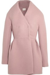 Delpozo Wool And Mohair Blend Coat Antique Rose