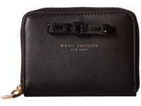 Marc Jacobs Bow Zip Card Case Black Credit Card Wallet