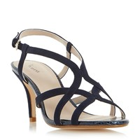 Linea Minelli Strappy Heeled Sandals Navy