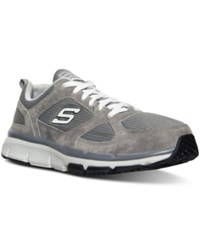Skechers Men's Relaxed Fit Optimizer Running Sneakers From Finish Line Grey White