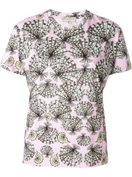Emilio Pucci Shell Print T Shirt Pink And Purple