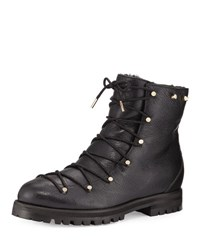 Jimmy Choo Drake Shearling Lined Leather Boot Black