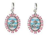Betsey Johnson Anchors Away Cameo Drop Earrings Pink Blue Earring