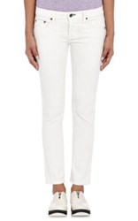 Rag And Bone Women's Tomboy Crop Corduroy Pants White
