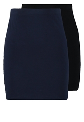 Zalando Essentials 2 Pack Mini Skirt Black Dark Blue