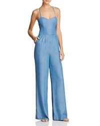 Lovers Friends And Anna Chambray Jumpsuit Medium Wash