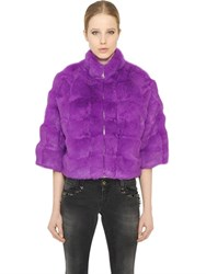 Blugirl Short Rabbit Fur Coat