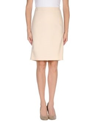 Joseph Knee Length Skirts Beige