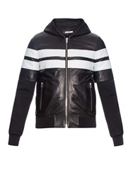 Givenchy Neoprene And Stripped Leather Jacket