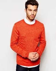 Asos Jumper In Cashmere Blend Orange