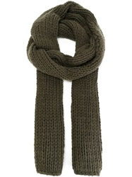 Dsquared2 Chunky Knit Scarf Green