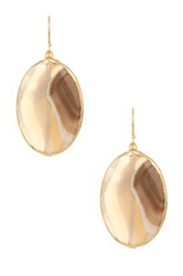 Janna Conner Delphine Gray Striped Agate Earrings No Color