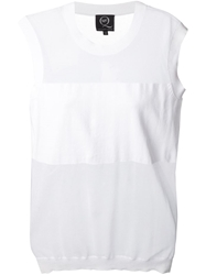 Mcq By Alexander Mcqueen Sheer Panel Knitted Top White