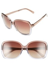 Women's Kate Spade New York 'Darilynn' 58Mm Polarized Sunglasses Brown Ash Fade Brown Polar