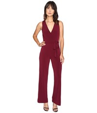 Catherine Malandrino Sleeveless Jumpsuit W Self Belt Zinfandel Women's Jumpsuit And Rompers One Piece Brown