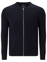 Scotch And Soda Zip Through Cardigan Navy Melange