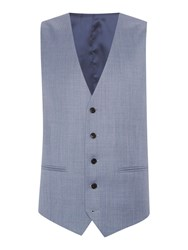 New And Lingwood Midhurst Textured Suit Waistcoat Blue
