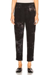 Raquel Allegra Easy Pants In Black Ombre And Tie Dye Black Ombre And Tie Dye