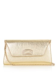 Christian Louboutin Vero Dodat Leather Clutch Gold