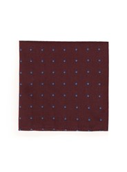 Topman Selected Homme Red And Blue Spotted Silk Handkerchief