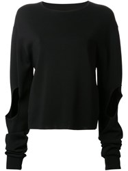 Dion Lee Cut Out 'Circle' Sweater Black