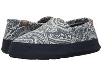 Acorn Moc Summerweight Navy Batik Women's Slippers