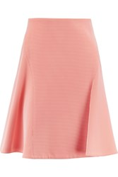 Roland Mouret Boxwell Embroidered Chiffon Mini Skirt Orange