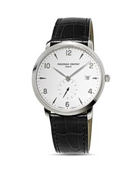 Frederique Constant Classics Watch With Leather Strap 38.5Mm White Black