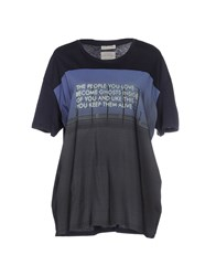 Each X Other Topwear T Shirts Women Dark Blue