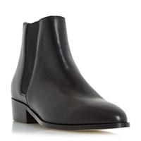 Dune Pearce Pointed Toe Leather Chelsea Boots Black