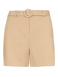 Dorothy Perkins Buckle Front Shorts White