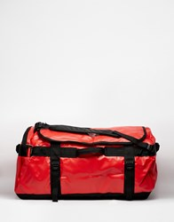 The North Face Base Camp Duffle Bag In Large Red