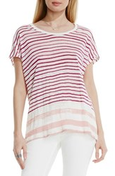 Vince Camuto Women's Two By 'Sundeck Muse' Stripe Linen Tee